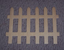 Picket fence panel, unfinished wood,fall crafts,doll house construction,rustic,garden,Halloween crafts