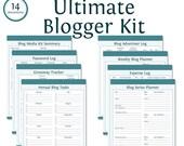 Ultimate Blogger Kit - Instant Download - Printable PDF - Bundled Kit (14 documents) - Blogging Kit