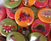 20 Dinosaur Pinback Buttons - 20 One Inch Assorted Pinback Buttons - Dinosaur Pins, Dinosaur Favour, Dinosaur Party - MyButtonBuddy