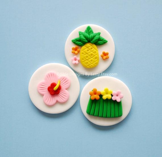 Edible Luau Cake Decorations