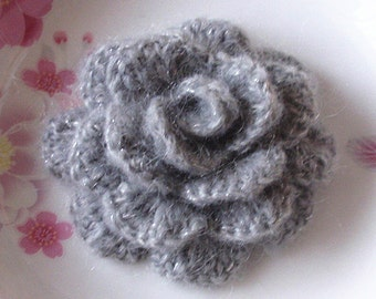 Larger Crochet Flower (Rose) in 3.5 inches YH-139-01