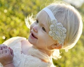 Crystal Headband, White Rhinestone headband, Rhinestone Headband, Flower Girl Headband, Bridal Headband, Bling Headband, Gatsby Headband