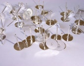 100 piece 8mm silver plated post finding