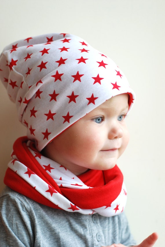 Kids Slouchy Beanie Hat Oversize Jersey Cotton Hat By