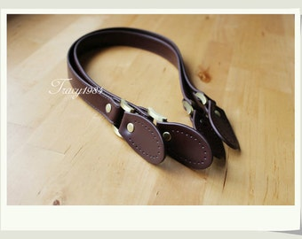 "61cm or 24"" Synthetic Leather Straps in Brown"