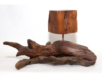 Uncarved Block - Taoist Abstract Wood Sculpture