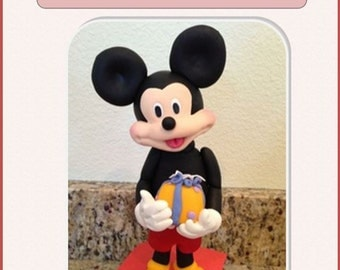 Mickey Mouse Cake topper Step by Step instructions