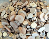 Wood Slices - 50 Assorted Unsanded Blank Tree Branch Slices -  DIY Wedding  Decor - 1 - 3 inches - Craft Supplies - Jewelry Supplies