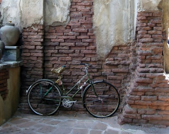 India Bike 8x10 Photo, Bicycle Photography, Vintage Bike, Travel Photography, India Photography, Minimalist, Boho Art, indie art, earth tone