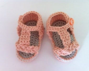 Braided crochet baby sandal