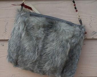 Vintage Gray Goat Handbag