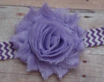 Lavender Shabby Chic Headband..Newborn Headband..Baby Girl Headband..Headband..Infant Headband..Baby Headband.Flower Headband