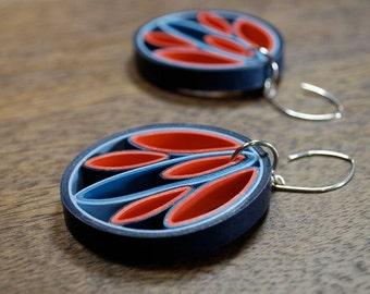 Paper Anniversary Gift Idea / 1st Anniversary Gift / Paper Jewelry / Paper Earrings / wedding anniversary gift / First Anniversary - Flox