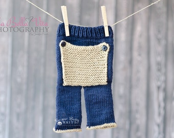 KNIT PATTERN - Bum Flap Pants Pattern- Photography Prop Boy. Girl. Knit Pants, Newborn Knit Pants, Pattern, Pants Pattern, Hand Knit