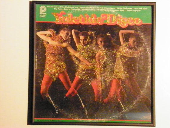 Glittered Record Album - Yuletide Disco