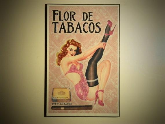 Glittered Poster - Flor De Tabacos