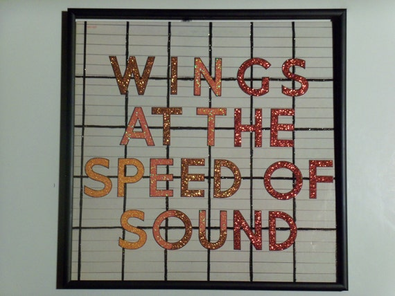 Glittered Record Album - Paul McCartney & Wings - Wings At The Speed Of Sound