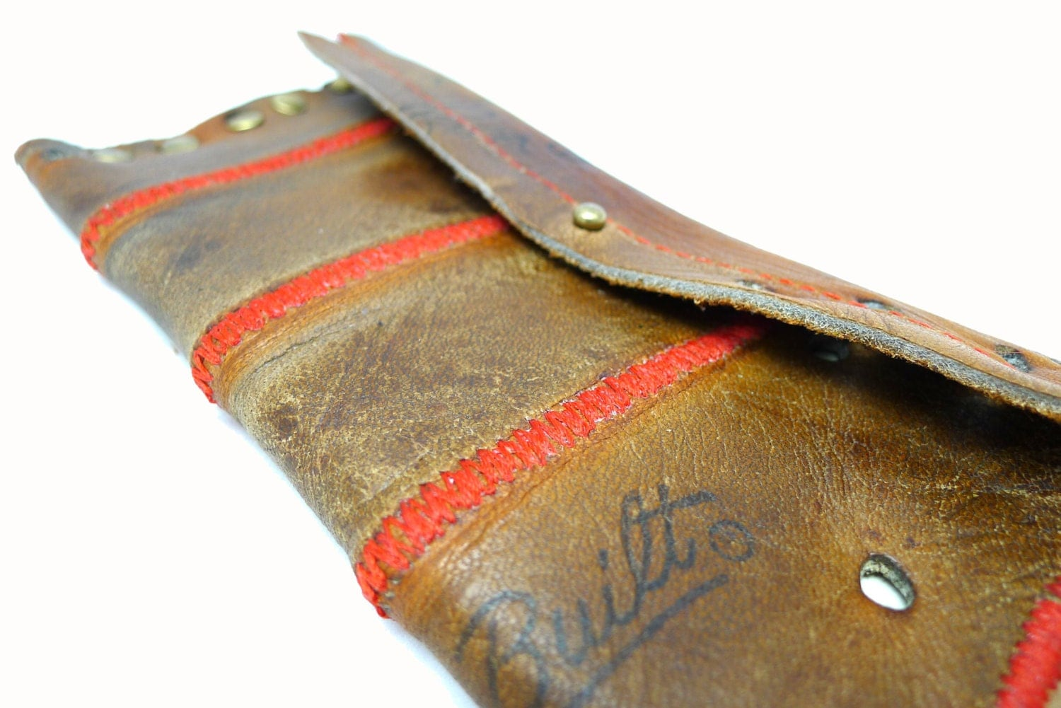 Recycled baseball glove wallet -  Vintage Baseball Glove Leather Wallet Zoom