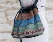 Bold Colour Drawstring Boho Bag