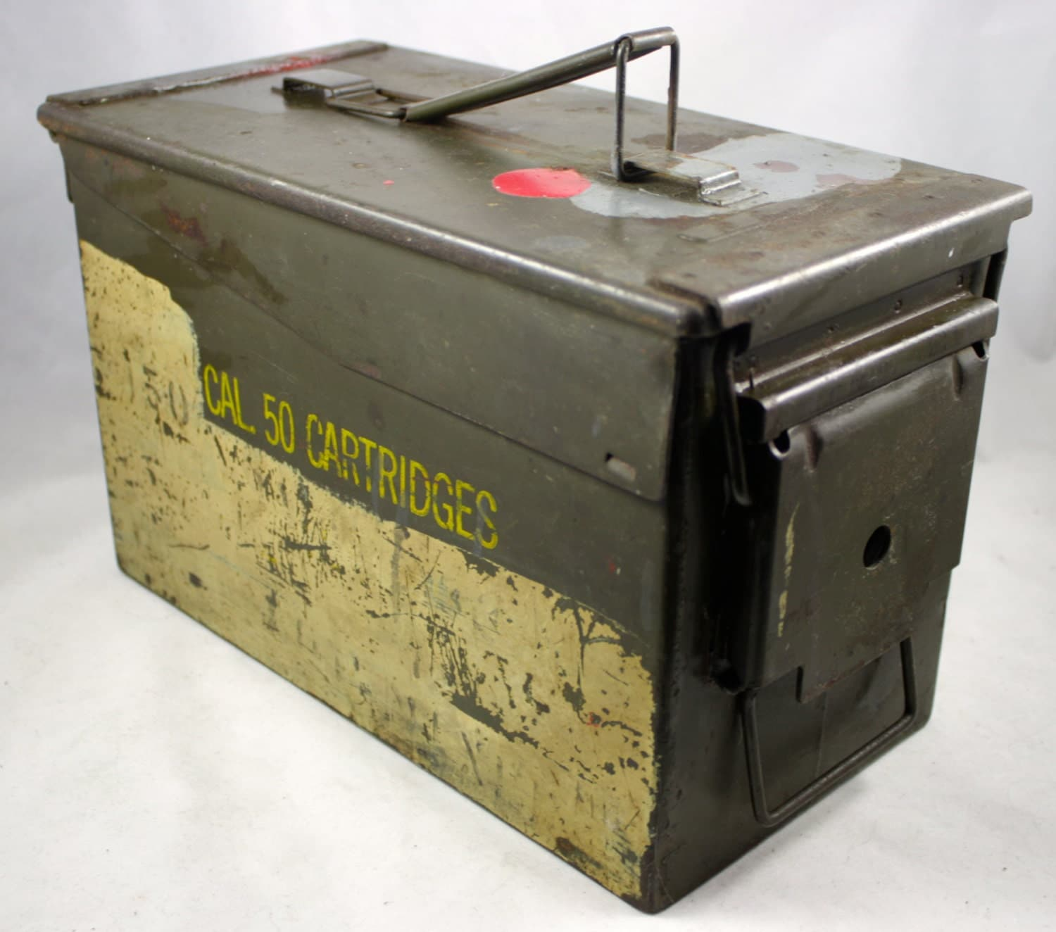 Vintage MILITARY Ammunition Box M2A1 Ammo Case 50 Caliber SHT