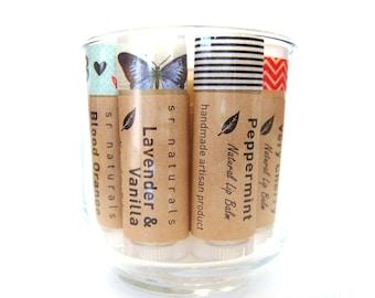 Peppermint + Lavender lip balm - all natural lip balm - organic lip balm - bath & beauty