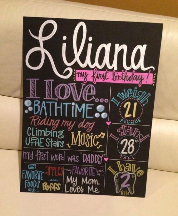 Birthday poster board ideas