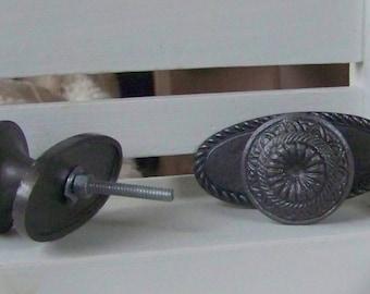 Metal Dresser Knob-Vintage Inspired Pewter Drawer Pull-Home Decor