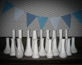 20 Vintage Milk Glass Bud Vase LOT - Weddings & Events