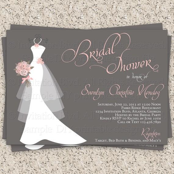 wedding bridal shower invitation template