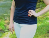 """SMALL - Navy """"Lilly, Audrey, Jackie Tee"""""""