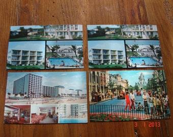 Vintage 4 Piece Set Of Florida And Walt Disney World Postcards From The 1970's - Walt Disney Postcards - Florida Postcards - Paper Ephemera
