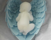 30 Sleeping Baby in Angel Wings Soap for Baby Shower or Baptism