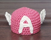 Girls Pink Captain America Hat