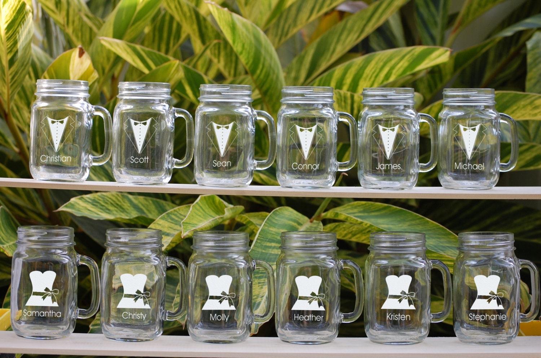12 Mason Jar Sippy Cups Wedding Party By UrbanFarmhouseTampa