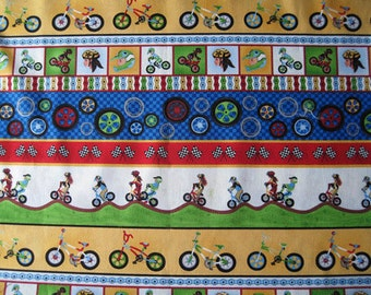 "Bicycle print fabric - W 42"" x   L  31"""