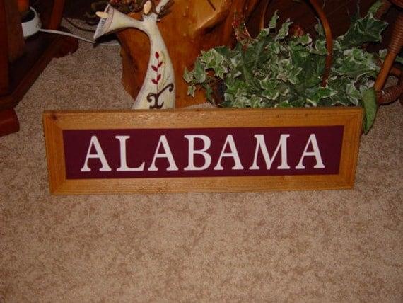 Alabama Man Cave Signs : Alabama large man cave custom lettered solid cedar wood framed