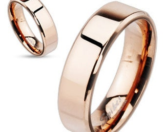 Personalized Rose Gold IP Over Stainless Steel - Free Engraving