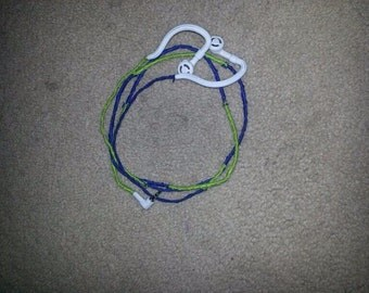 Lime Green And Royal Blue Headphones