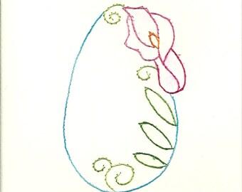 Easter Flower egg 1