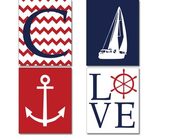 Items similar to nautical chevron monogram anchor for Anchor decoration runescape