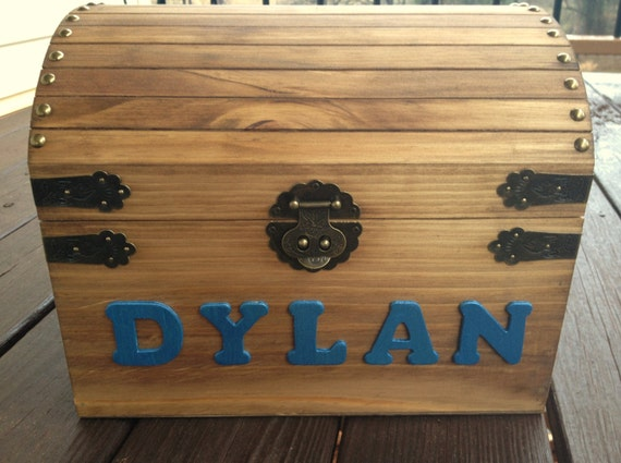 ... Baby and Kids Memory Chest - LARGE Wooden Chest - Baby Keepsake Chest