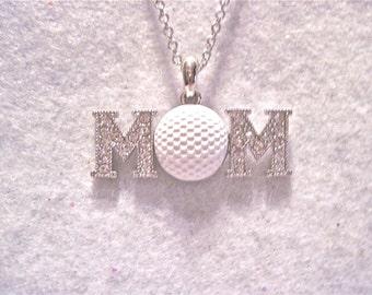 "Golf Necklace "" Golf Mom """