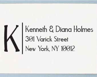 Custom Address Stamp - Initial Address Stamp AS35