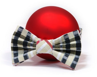Bow-tie for Boys Gold plaid Red Tie Valentine's  Boys bow tie. Boys birthday gift. holidays