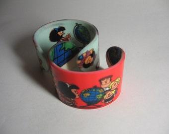 Acrylic Bangle / Bracelet - Mafalda - Quino - Wristband / Cuff