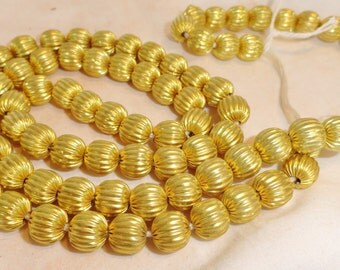 Large African Melon Brass Beads