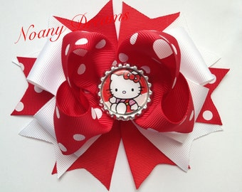 hello kitty red w/ white  hair bow
