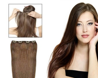 Clip In One Piece Extension 1 Step Full Set  20 Inch Length