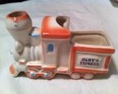 Vintage Train Planter - Nursery