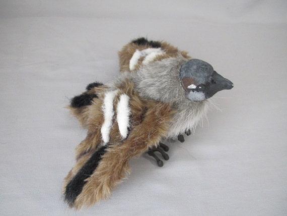 70% OFF Sparrow Bird Art Doll Plush Sculpture FREE Shipping